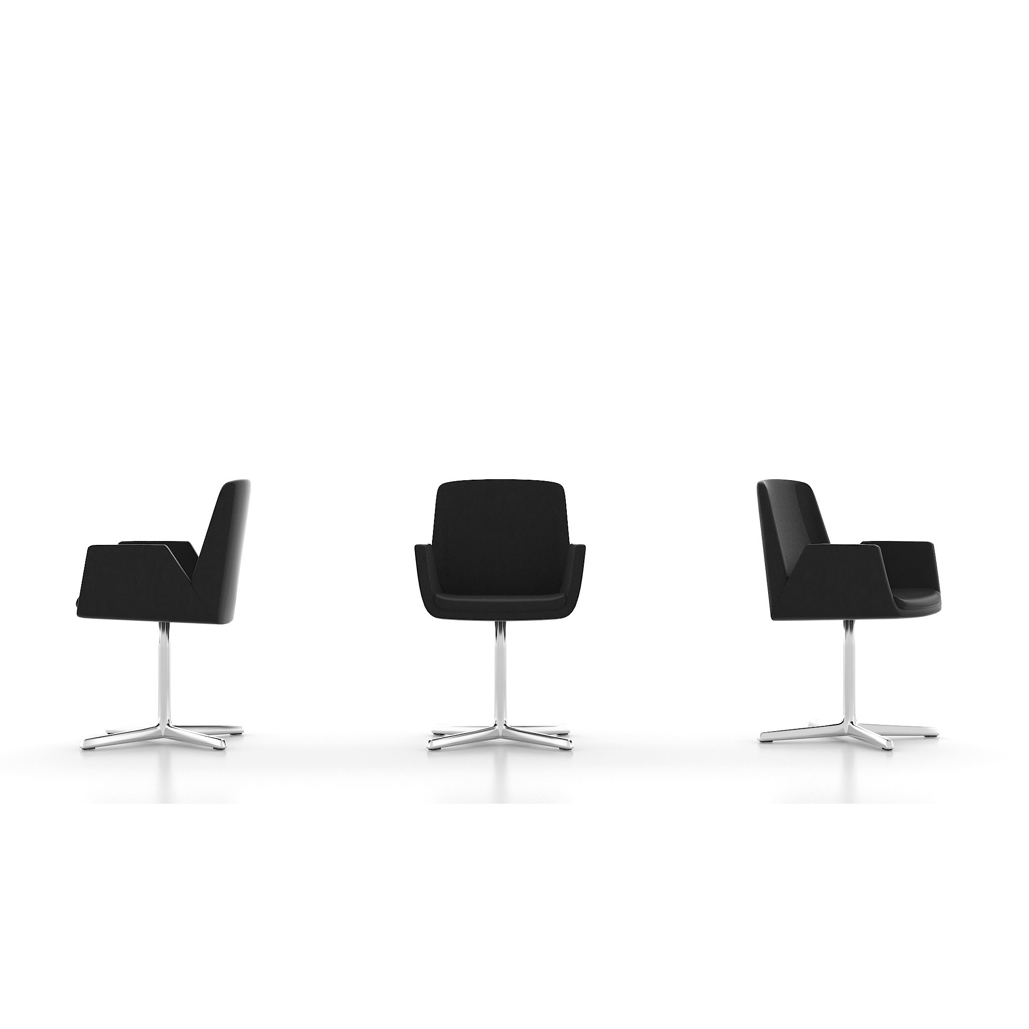 Reception Chairs chair on single pole base